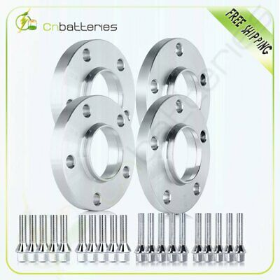 5x120mm (2) 15mm & (2) 20mm W/ Bolts Hub Centric Wheel Spacers Adapters For BMW