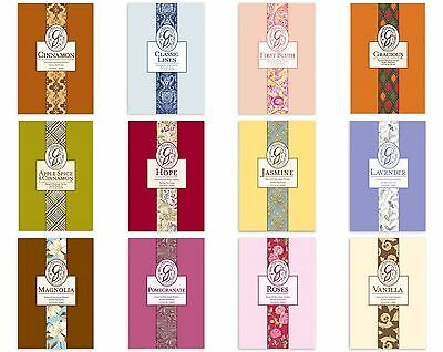 New Pack Two Highly Scented Greenleaf Fragrant Sachets Various Scents Free Post
