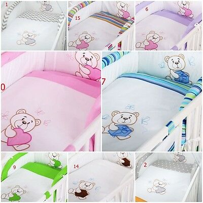Luxury 2 Pc Pieces Bedding Sets Embroidered For Cot /Cot Bed Quilt+Pillow Cover