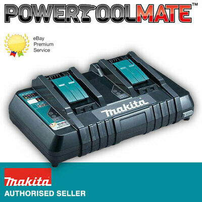 Makita DC18RD 7.2v-18v LXT Twin Port Rapid Battery Charger + USB 230v