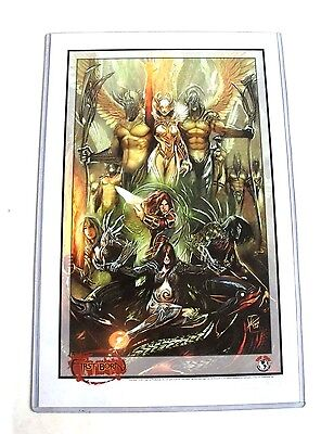 Top Cow Comics THE DARKNESS WITCHBLADE 'FirstBorn' Limited Print + Certificate