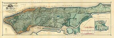 Historic Map of New York City 1865 - 16x48