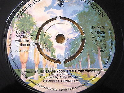 "Corky Mayberry - Whispering Grass  7"" Vinyl"