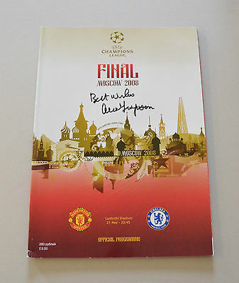 Sir Alex Ferguson Signed Manchester United 2008 Final Man Utd Programme + COA