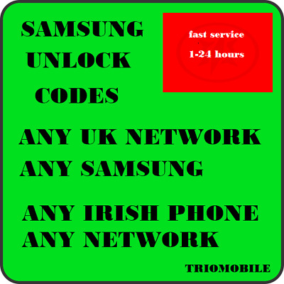 Unlock Code For Samsung Galaxy  S8, S9, S10, S10e  - VODAFONE,  EIR   IRELAND