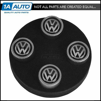 OEM ZVW355005A VW Logo Valve Step Cap Set of 4 for VW Golf R32 Jetta Passat New
