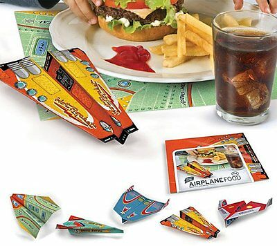 50 x Fred AIRPLANE FOOD PLACEMATS Paper Planes FLYING Origami KIDS BBQ Party