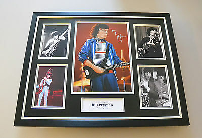 Bill Wyman Signed Photo Large Framed Rolling Stones Autograph Display + COA