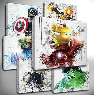 Choose your LEGO Marvel AVENGERS Canvas Wall Art Picture Prints - Hand Stretched