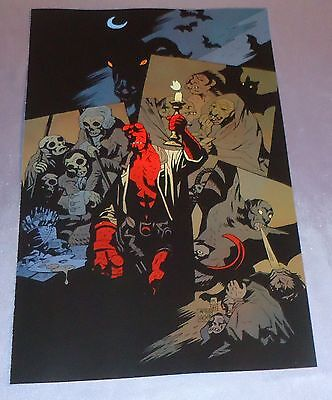 Hellboy~Cover Art Print~Mike Mignola Art~Witches By Candle Light~
