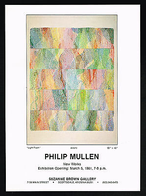 1981 Philip Mullen Art Light Foam Arizona Gallery Vintage Print Ad