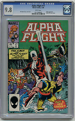 Alpha Flight #17 CGC 9.8 White pages  X-men Appearance Wolverine Cover