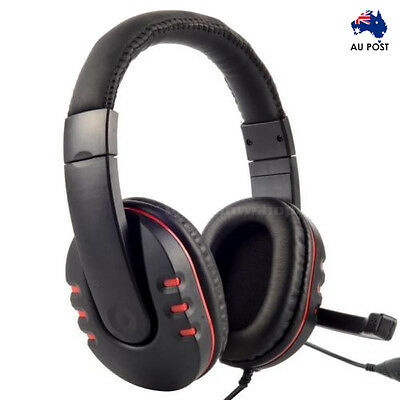 Universal USB Stereo Gaming Headset w/ Microphone for PS3 PS4 Laptop PC Mac AU