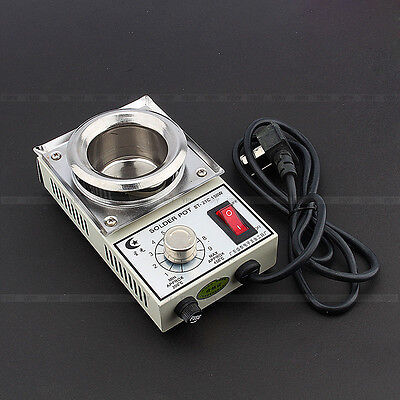 150W  220V Solder Pot Soldering Desoldering Bath 50mm ST-21C 450 Degree Max