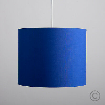 Modern 25cm Blue Ceiling Light Pendant Shade Cylinder Lampshade Lounge Lighting