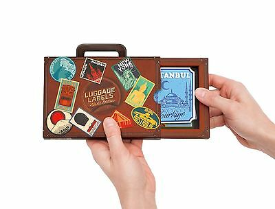 Luggage Labels World Edition Vintage Luggage Identifiers Travel Stickers
