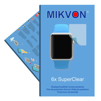 6x Mikvon films screen protector SuperClear for Apple Watch Sport 38mm