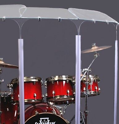6 Section Drum Shield Panels w/ Deflectors total height 6ft w/ Living Hinges