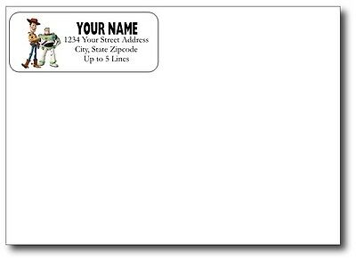 Toy Story Woody Buzz Return Address Gloss Labels Favors Personalized Custom