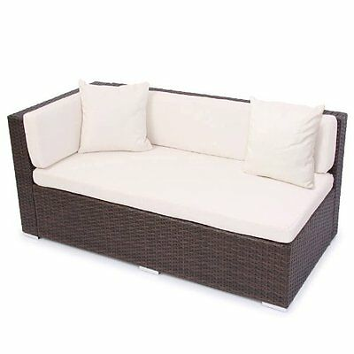 17tlg poly rattan lounge sofa set sitzgruppe gartenm bel garnitur braun schwarz eur 339 99. Black Bedroom Furniture Sets. Home Design Ideas