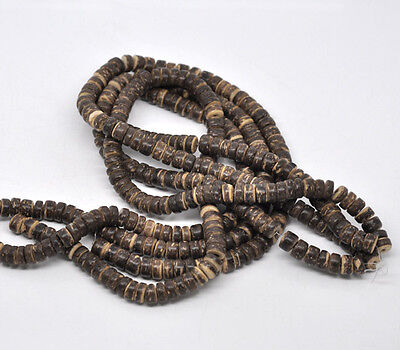 4Strands HOT SALE Coconut Shell Rondelle Loose BEADS 8mm 40cm