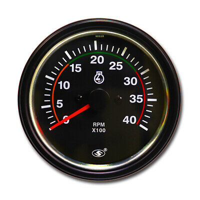 Taiwan Made 85mm Electrical Tachometer Gauge for Diesel (12v/24v) 0-4000 RPM