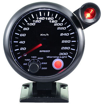 95mm 3 3/4 inches Speedometer 0-300 KMH with outside shift light