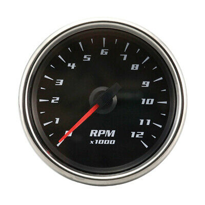 0-12000 RPM Electrical Motorcycle Tachometer Gauge