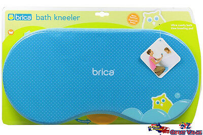 Blue Brica Bath Kneeler Mother Protection Baby Care Hanging Handle for Drying