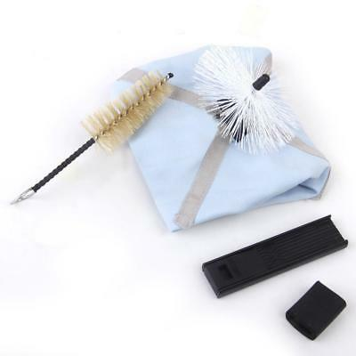 4pcs Saxophone Sax Cleaning Kit Pull Through Cleaner Swab Cloth Brush Reed Guard