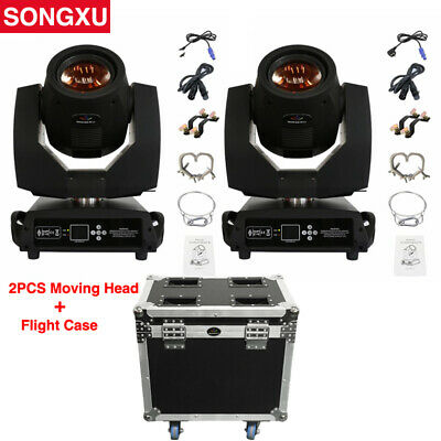 SONGXU 2pcs Sharpy Beam 200W 5R Moving Head Light with Flight Case Package