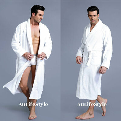 New Luxury 100% Cotton Terry Toweling Bath Robe Men And Women One Size Soft Gown