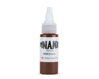 DYNAMIC BROWN 1-oz Tattoo Ink Brite Vibrant & Dark Color Supply
