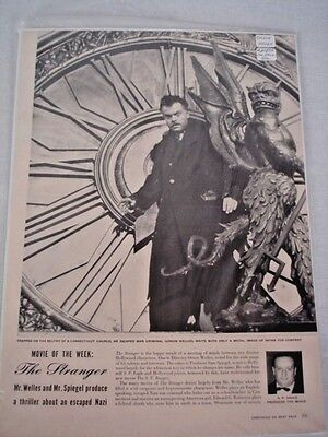 "Orson Welles vintage magazine article ""The Stranger"""