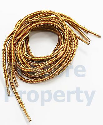 New Boot Shoe Laces Shoe Strings Work Hiking Boots Tan Gold Color 54 Size On