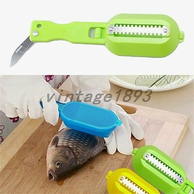 Fish Scale Scraper Remover Scaler Stripper Cleaner Shaver Descalers Kitchen Tool