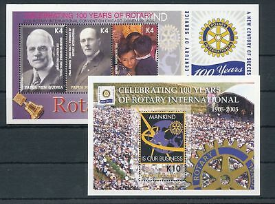 PAPUA New Guinea PNG 2005 Rotary Aids MNH Sheets x 2(Pap121)
