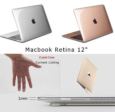 """Transparent Crystal Plastic Hard Clear Case Cover Skin For MacBook 12"""" Retina"""