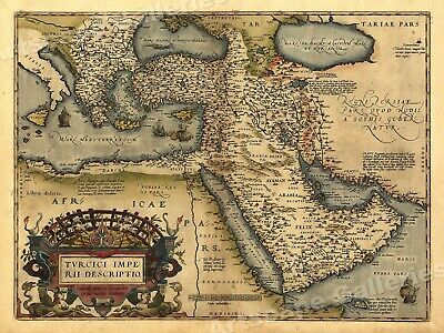 1570 Middle East Orbis Terrarum Historic Old Map - 20x28