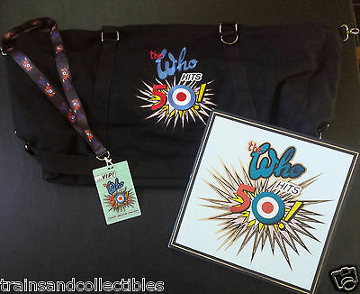 The Who Hits 50! 2015 Official Tour Package Duffel Bag, Vip Pass & Tour Booklet