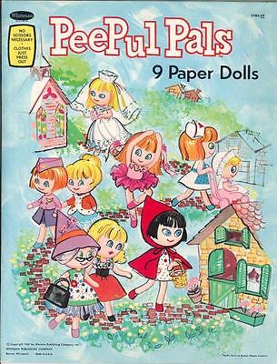 Vintge 1967 Peepul Pals Paper Doll ~Adorable Laser Reproduction~Orig. Size Uncut