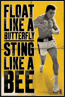 Muhammad Ali POSTER (61x91cm) Float Like A Butterfly Picture Print New Art