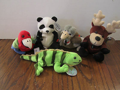 1999 Coca-Cola International Collection Bean Bag Plush - set of 5