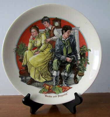 Wedgewood Charles Dickens collector plate -- Barkis & Peggotty