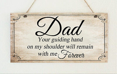 Hand Made Plaque Dad Brother Uncle Grandad Forever Gift Birthday Present Love