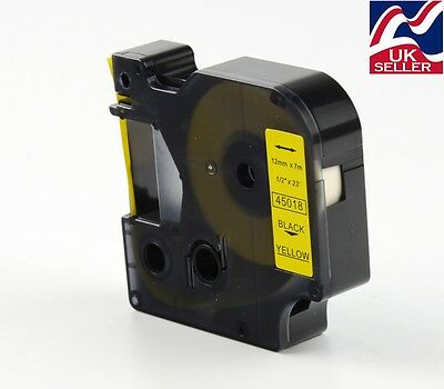 1 x D1 tape cartridge 45018 black/yellow 12mmx7m for DYMO label manager printers