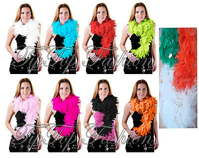 New Ladies 150CM High Quality Feather Boa 20s Flapper Hen Night Fancy Dress50gm