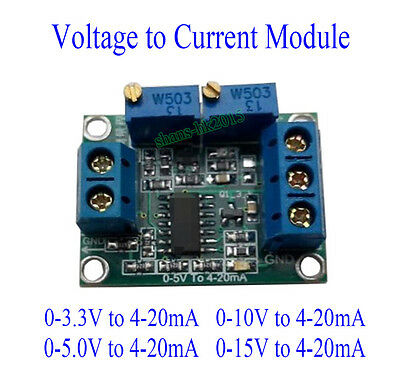 Voltage to Current 0-10V 0-5V to 4-20mA Isolation Transmitter Signal Converter