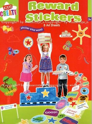 1000+ School Teacher Resource Children Parents Reward Stickers SMILE STAR GREAT