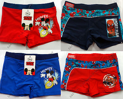 Costume Bimbo Boxer Mickey Mouse Spiderman Topolino Mare Piscina Personaggi Moda
